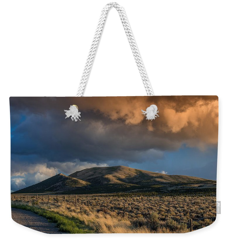 Great Basin Weekender Tote Bag featuring the photograph Great Basin Cloud by Greg Nyquist