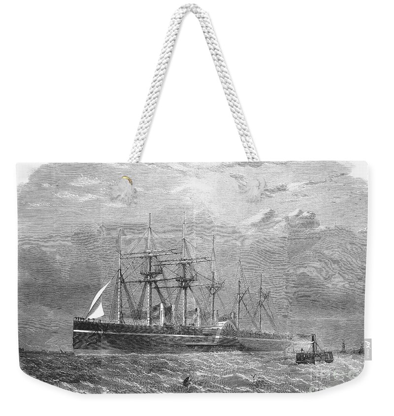 1860 Weekender Tote Bag featuring the photograph Great Eastern, 1860 by Granger