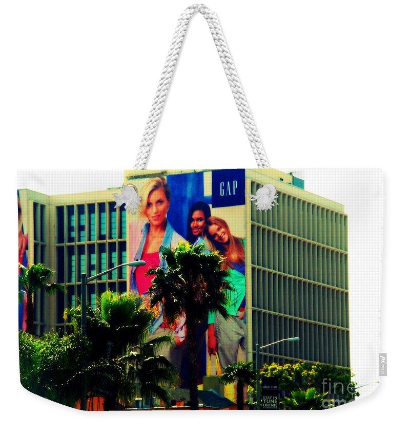 Los Angeles Weekender Tote Bag featuring the photograph Great In Advertising In La by Susanne Van Hulst
