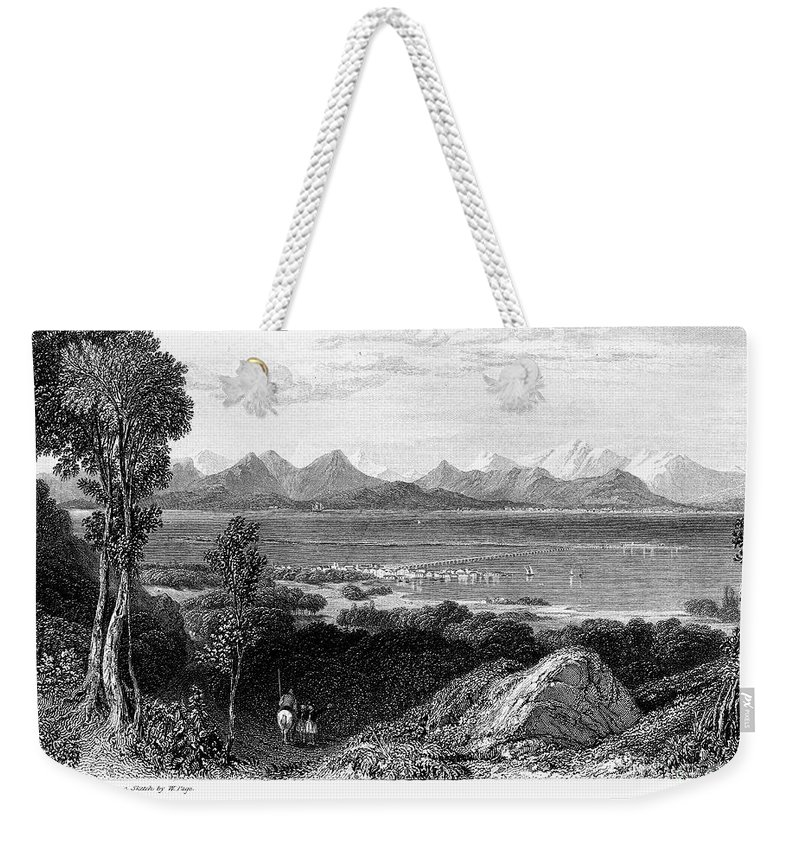 1832 Weekender Tote Bag featuring the photograph Greece: Levkas, 1832 by Granger
