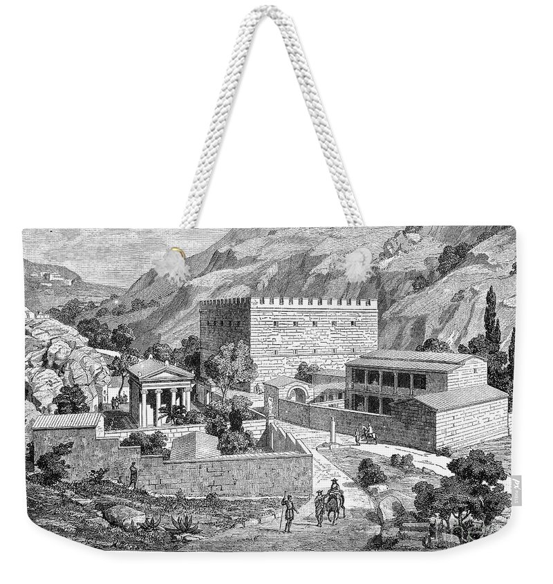 Ancient Weekender Tote Bag featuring the photograph Greece: Road To Athens by Granger