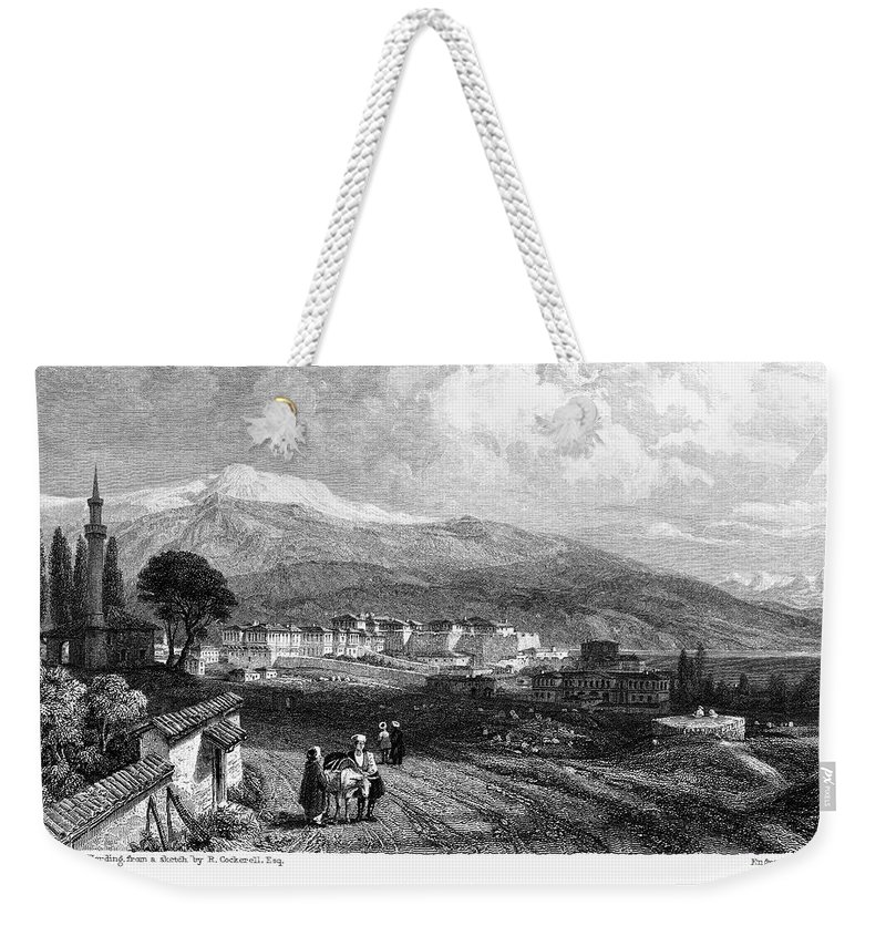 1833 Weekender Tote Bag featuring the photograph Greece: Yanina, 1833 by Granger