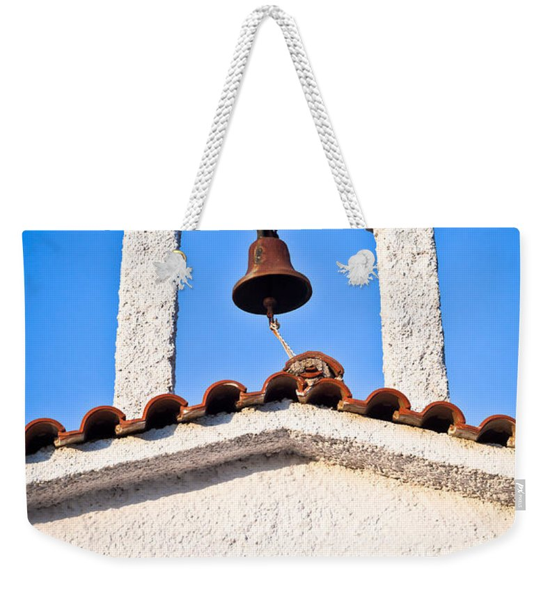 Arch Weekender Tote Bag featuring the photograph Greek Church by Tom Gowanlock