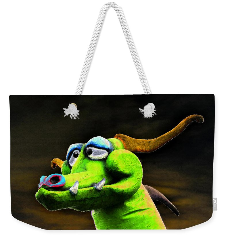 Art Weekender Tote Bag featuring the painting Green Dragon by David Lee Thompson