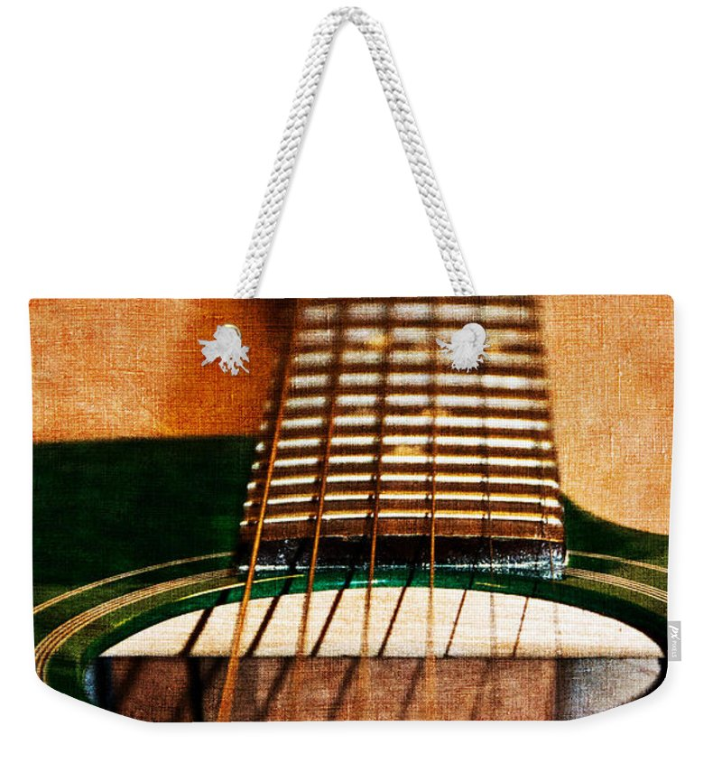 Green Weekender Tote Bag featuring the photograph Green Gibson by Angelina Vick