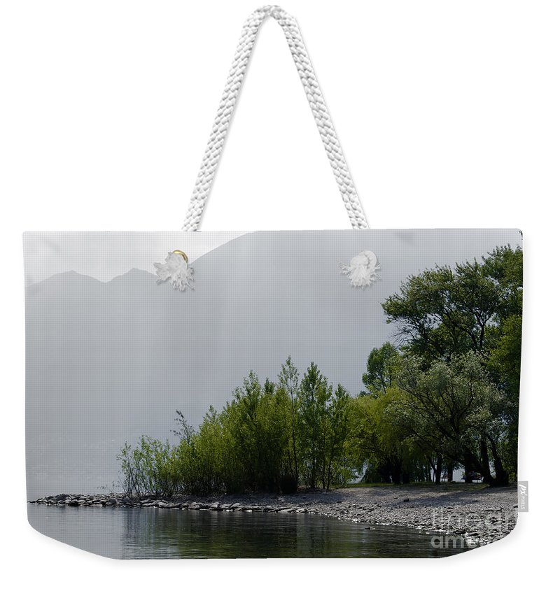 Trees Weekender Tote Bag featuring the photograph Green Trees by Mats Silvan