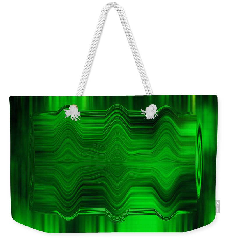 Abstract Weekender Tote Bag featuring the photograph Green Waters by DigiArt Diaries by Vicky B Fuller