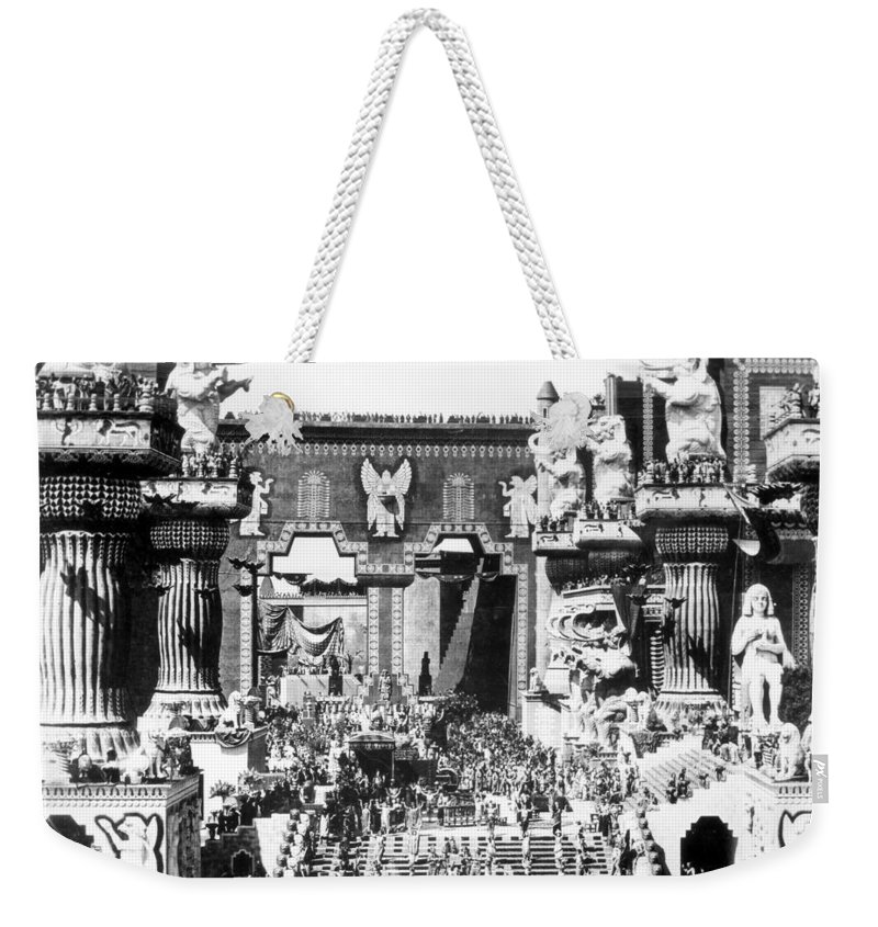 -ecq- Weekender Tote Bag featuring the photograph Griffith: Intolerance 1916 by Granger