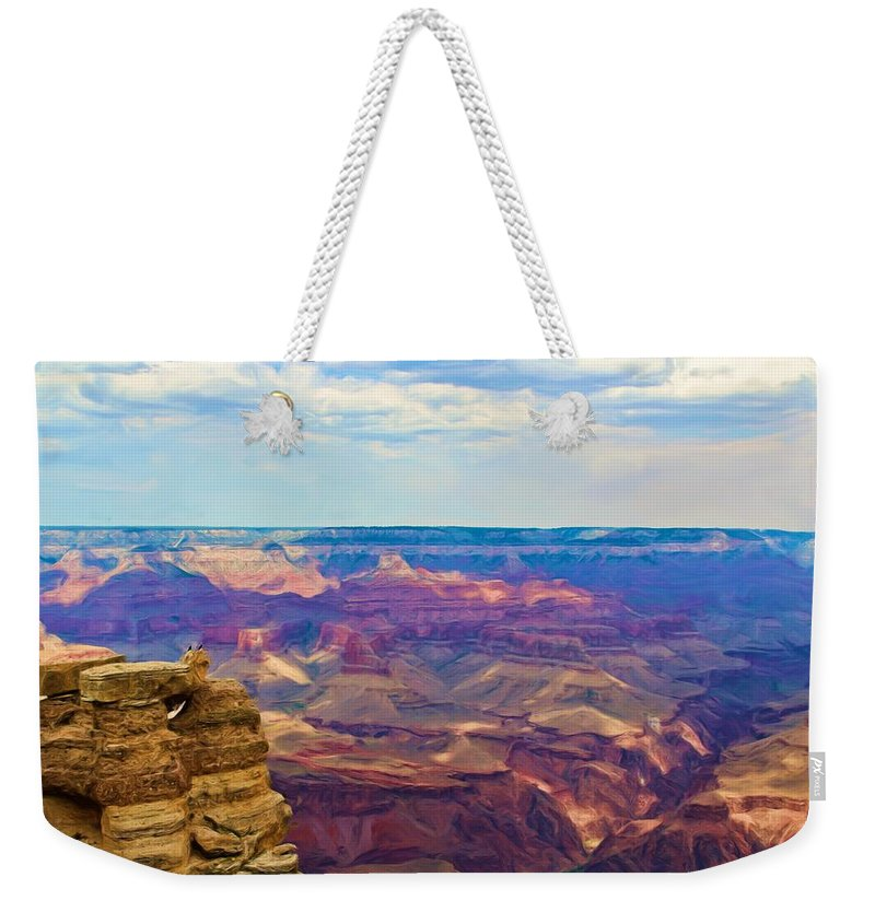 Crows Weekender Tote Bag featuring the photograph Guardians Of The Canyon by Heidi Smith
