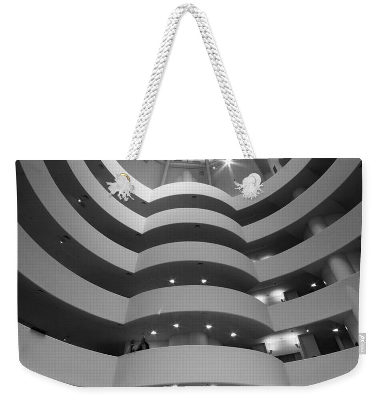 Abstract Weekender Tote Bag featuring the photograph Guggenheim 2 by Sean Wray