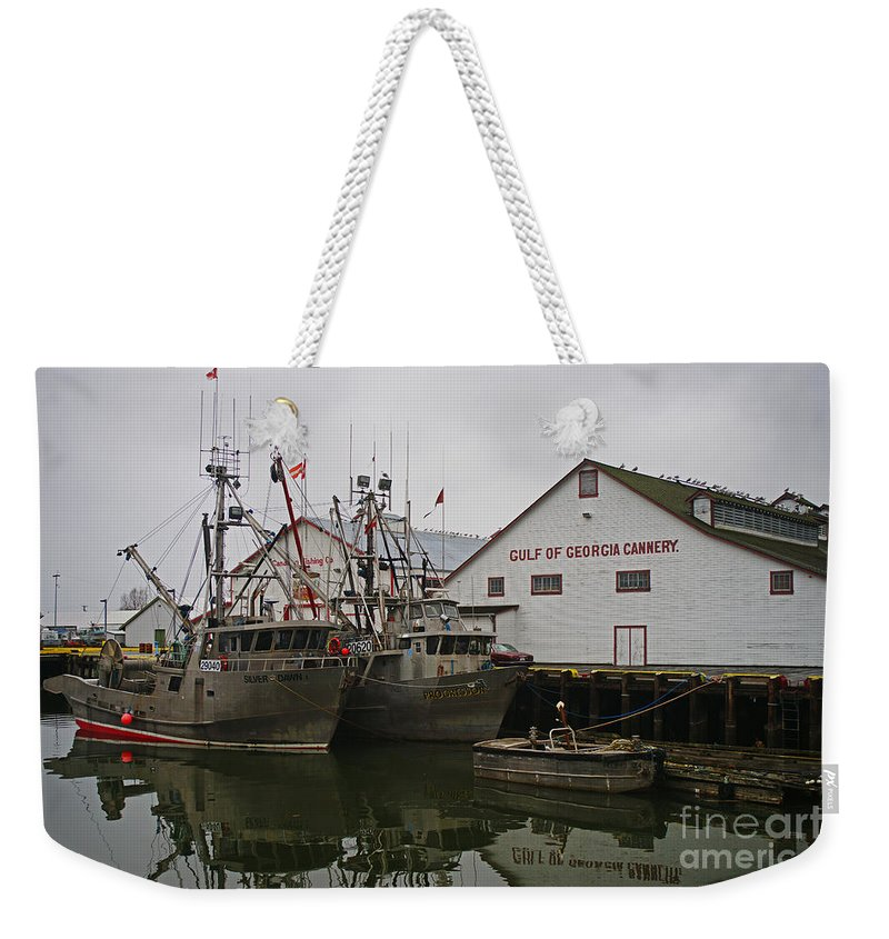 Fishing Boats Weekender Tote Bag featuring the photograph Gulf Of Georgia Co. by Randy Harris
