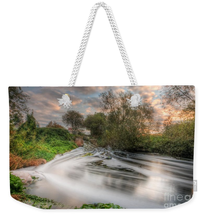 Hdr Weekender Tote Bag featuring the photograph Gush Forth 3.0 by Yhun Suarez