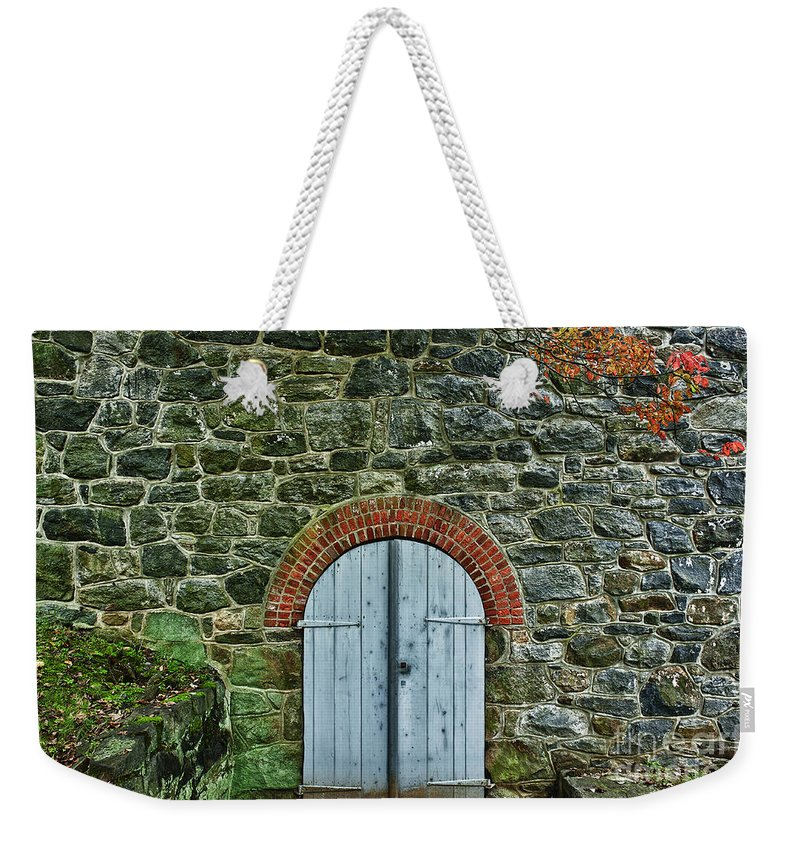 Delaware Weekender Tote Bag featuring the photograph Hagley Museumautumn by John Greim