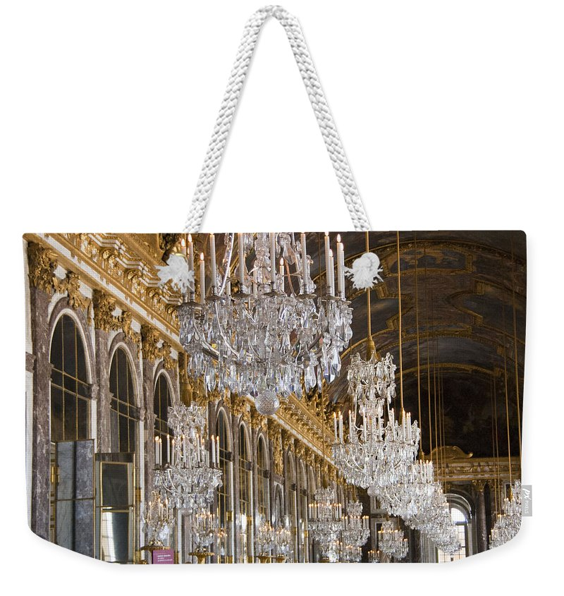 Palace Of Versailles Paris France Weekender Tote Bag featuring the photograph Hall Of Mirrors At Palace Of Versailles France by Jon Berghoff