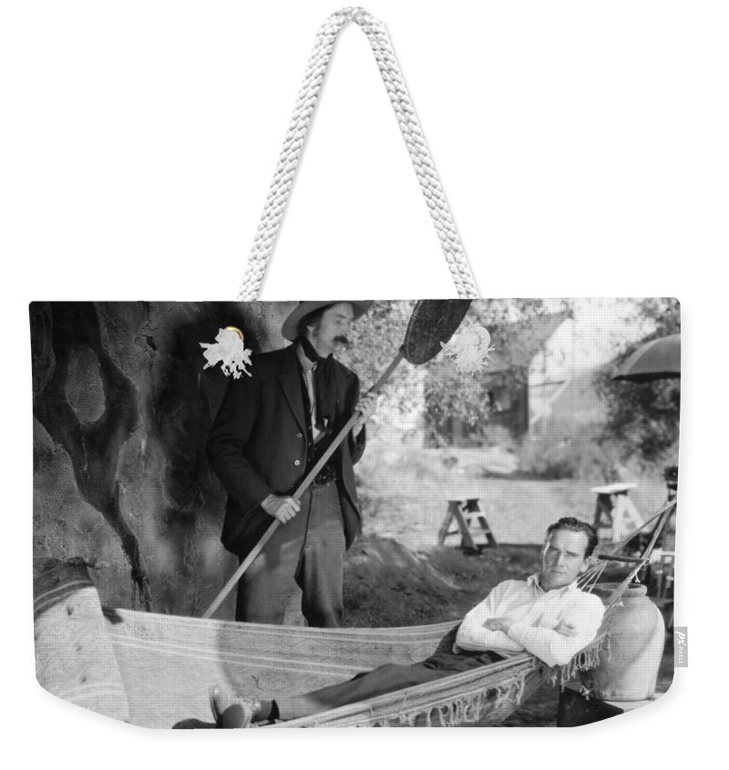 1925 Weekender Tote Bag featuring the photograph Hammock, 1925 by Granger
