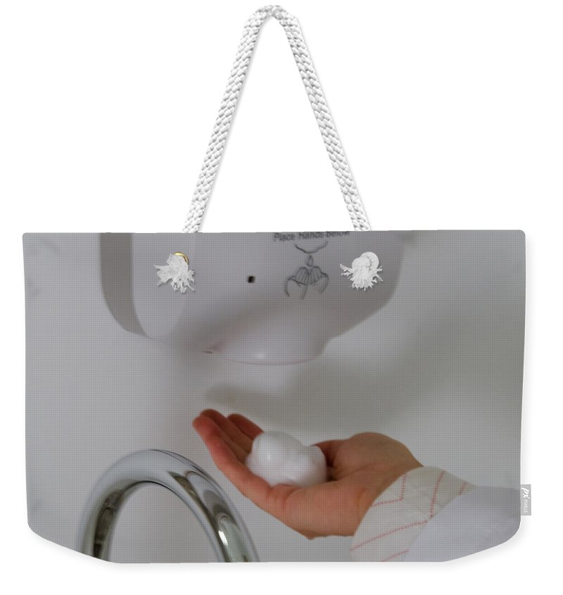 Clean Weekender Tote Bag featuring the photograph Hand Washing by Photo Researchers, Inc.