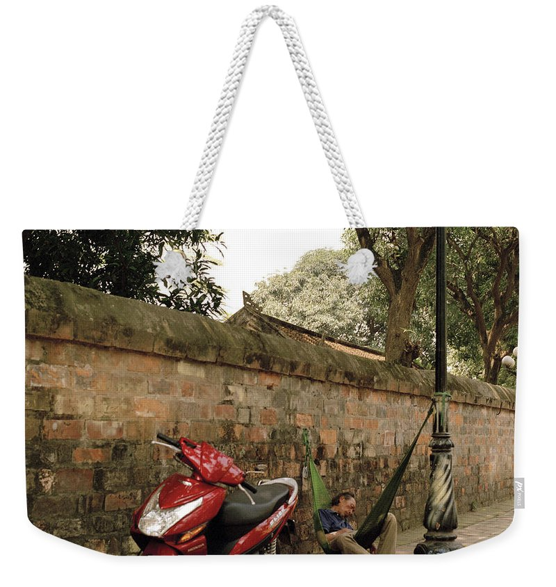 Asia Weekender Tote Bag featuring the photograph Hanoi Hammock by Shaun Higson