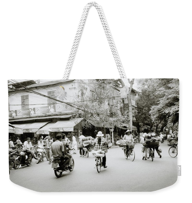 Asia Weekender Tote Bag featuring the photograph Hanoi by Shaun Higson
