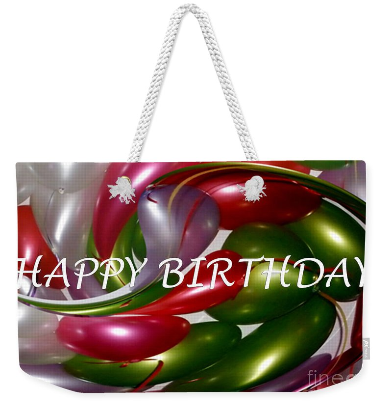 Photography Weekender Tote Bag Featuring The Photograph Happy Birthday