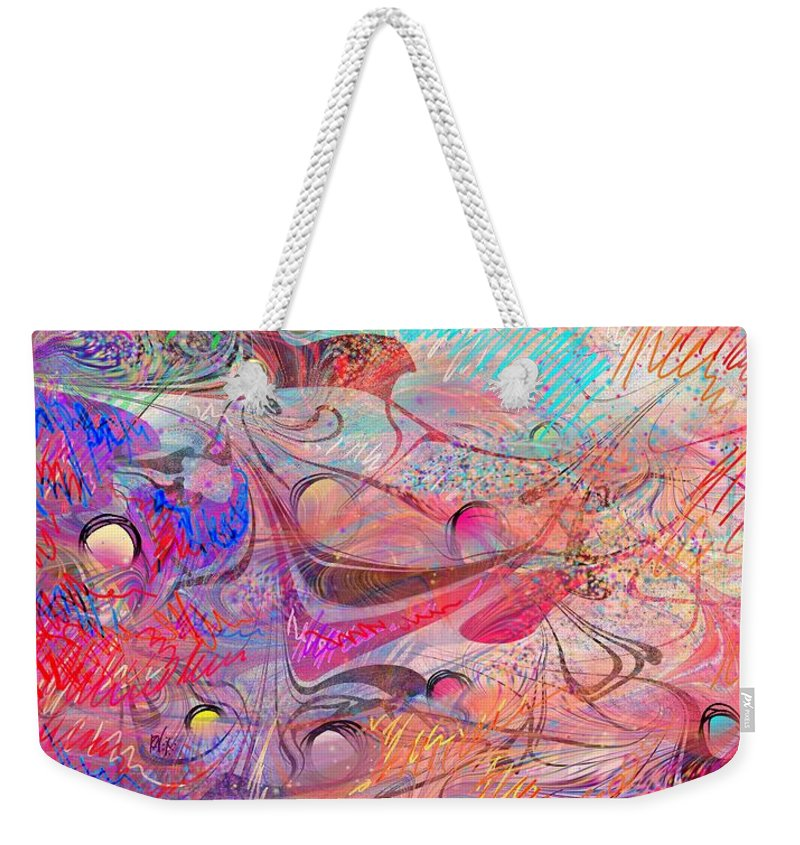Happy Place Weekender Tote Bag featuring the painting Happy Place I by Rachel Christine Nowicki