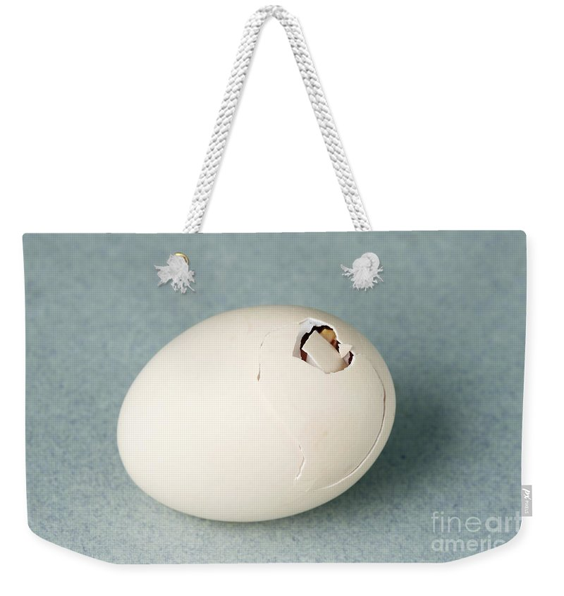 Egg Weekender Tote Bag featuring the photograph Hatching Chicken by Ted Kinsman