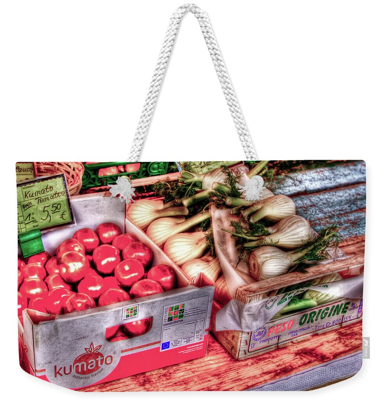 Vegetables Weekender Tote Bag featuring the photograph Hauptmarkt by Bill Lindsay
