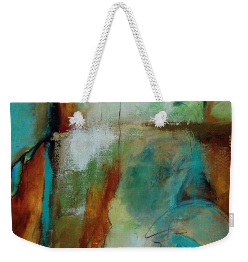 Abstracts Weekender Tote Bag featuring the painting Havasau Falls by Catron Wallace