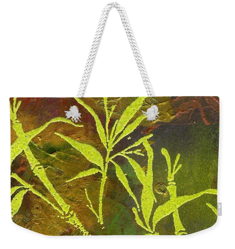 Acrylic Weekender Tote Bag featuring the painting Having Faith by Angela L Walker