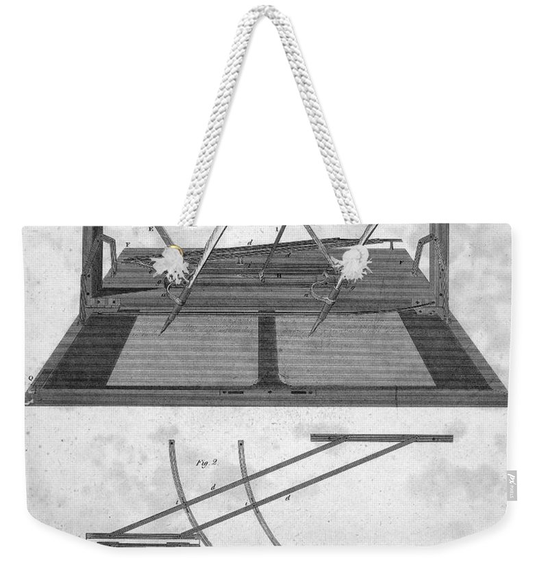 1803 Weekender Tote Bag featuring the photograph Hawkins Polygraph, 1803 by Granger
