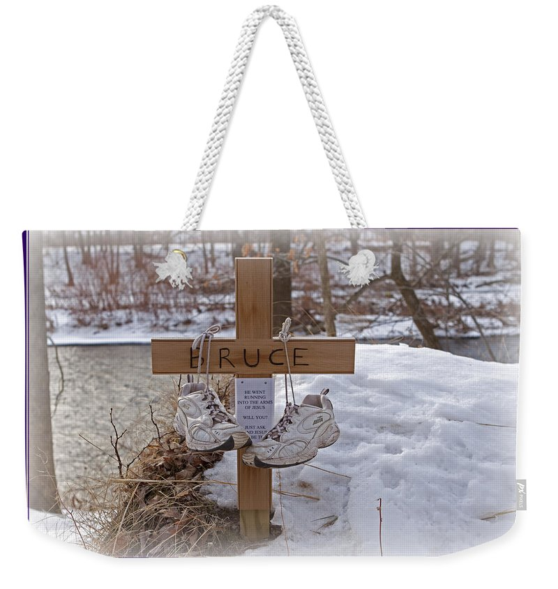 Running Weekender Tote Bag featuring the photograph He Went Running by John Stephens