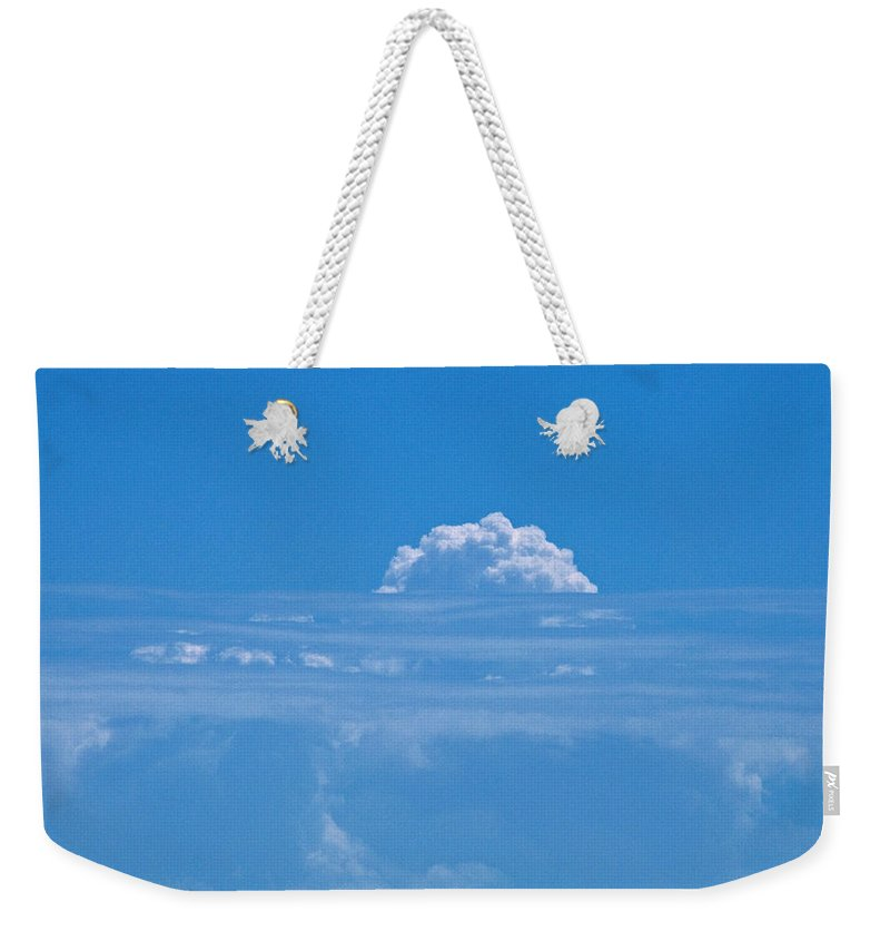 Clouds Weekender Tote Bag featuring the photograph Head In The Clouds by Christine Stonebridge