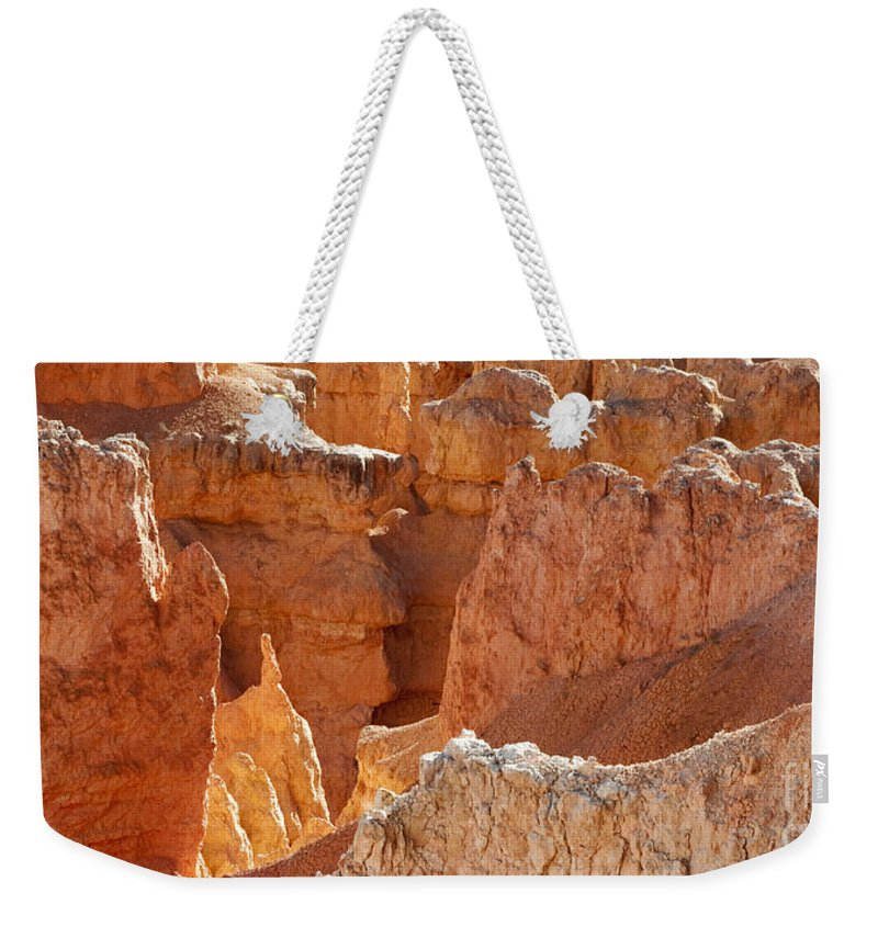 Bronstein Weekender Tote Bag featuring the photograph Heart Of The Hoodoos by Sandra Bronstein