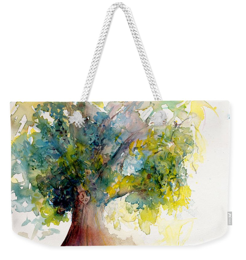 Tree Weekender Tote Bag featuring the painting Heart Tree by CheyAnne Sexton