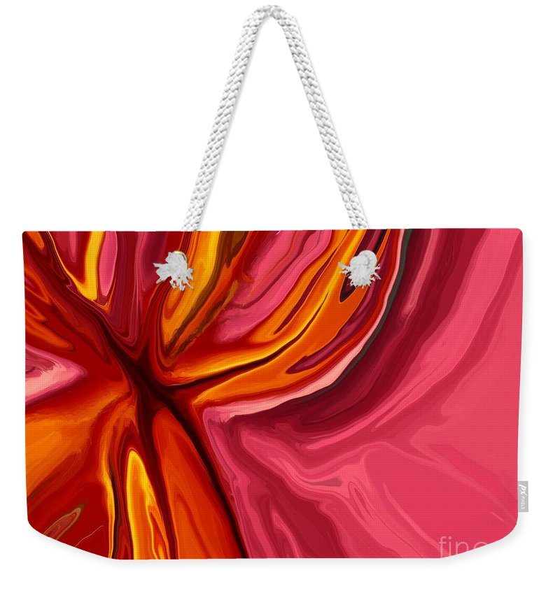 Abstract Weekender Tote Bag featuring the digital art Heartache by Chris Butler