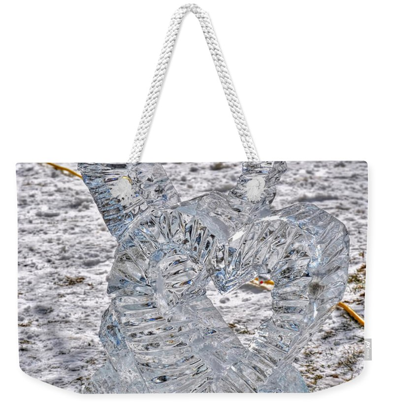 Weekender Tote Bag featuring the photograph Hearts Cold As Ice by Michael Frank Jr