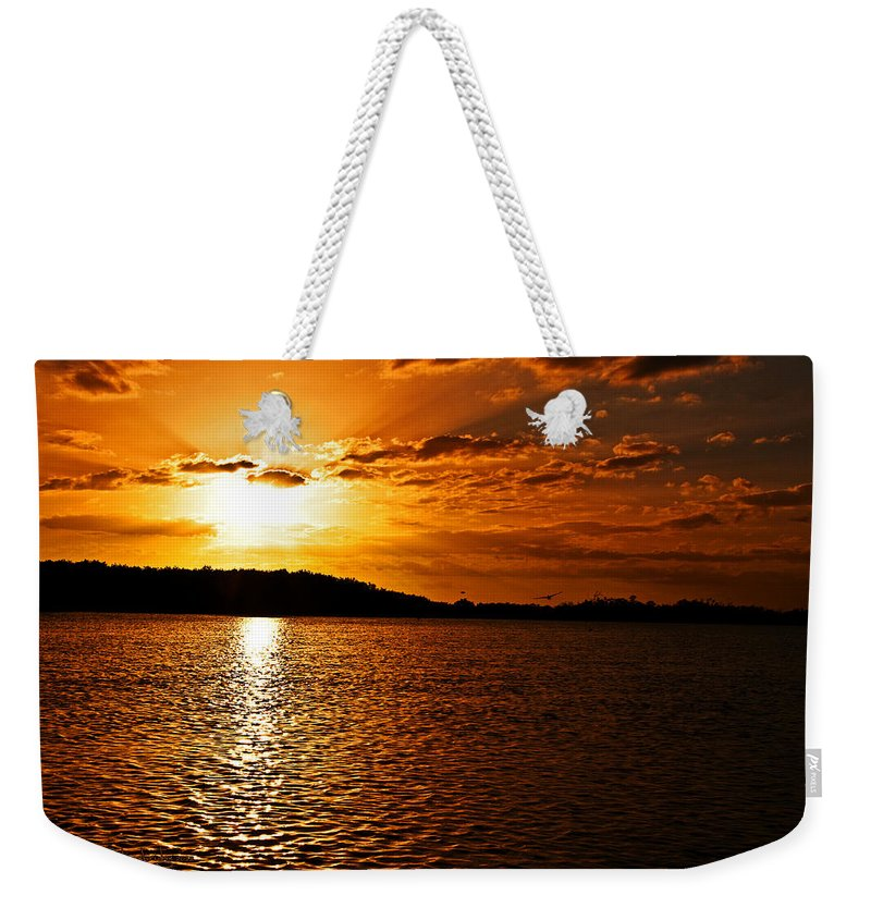Sunset Weekender Tote Bag featuring the photograph Heaven's Gate by Christine Stonebridge