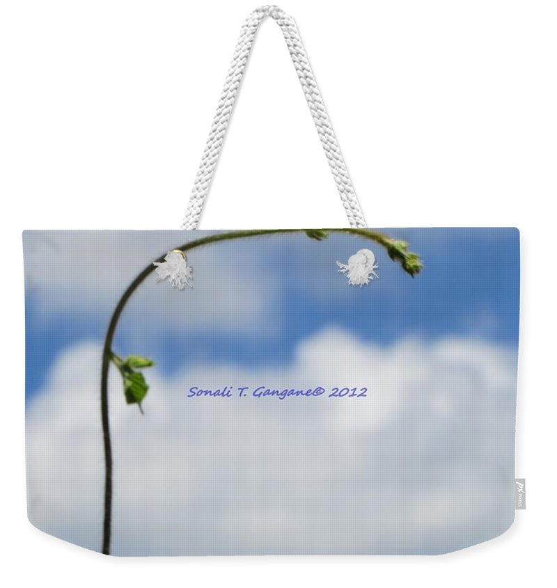 Aim High Weekender Tote Bag featuring the photograph Help Me Grow by Sonali Gangane