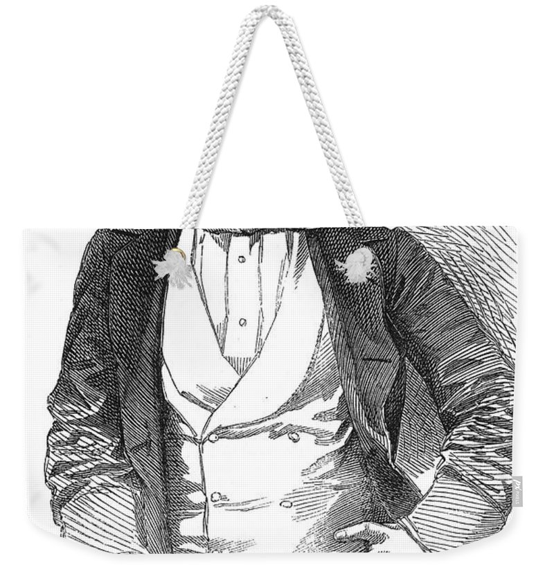 1854 Weekender Tote Bag featuring the photograph Henry Rusell (1812-1900) by Granger