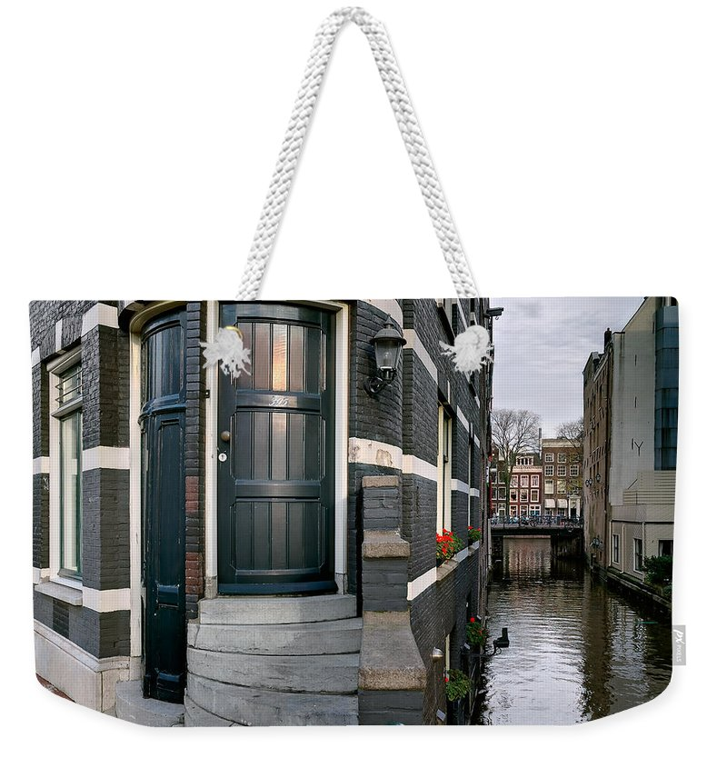 Holland Amsterdam Weekender Tote Bag featuring the photograph Herengracht 395 Bis. Amsterdam by Juan Carlos Ferro Duque