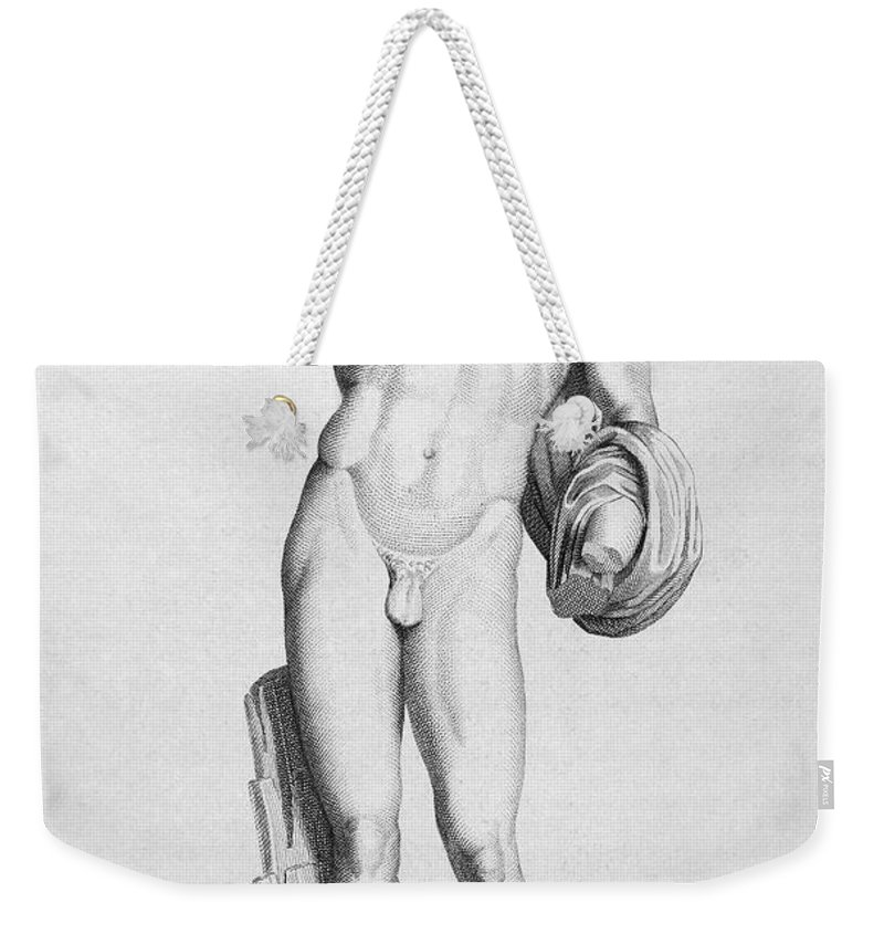 Ancient Weekender Tote Bag featuring the photograph Hermes/mercury by Granger