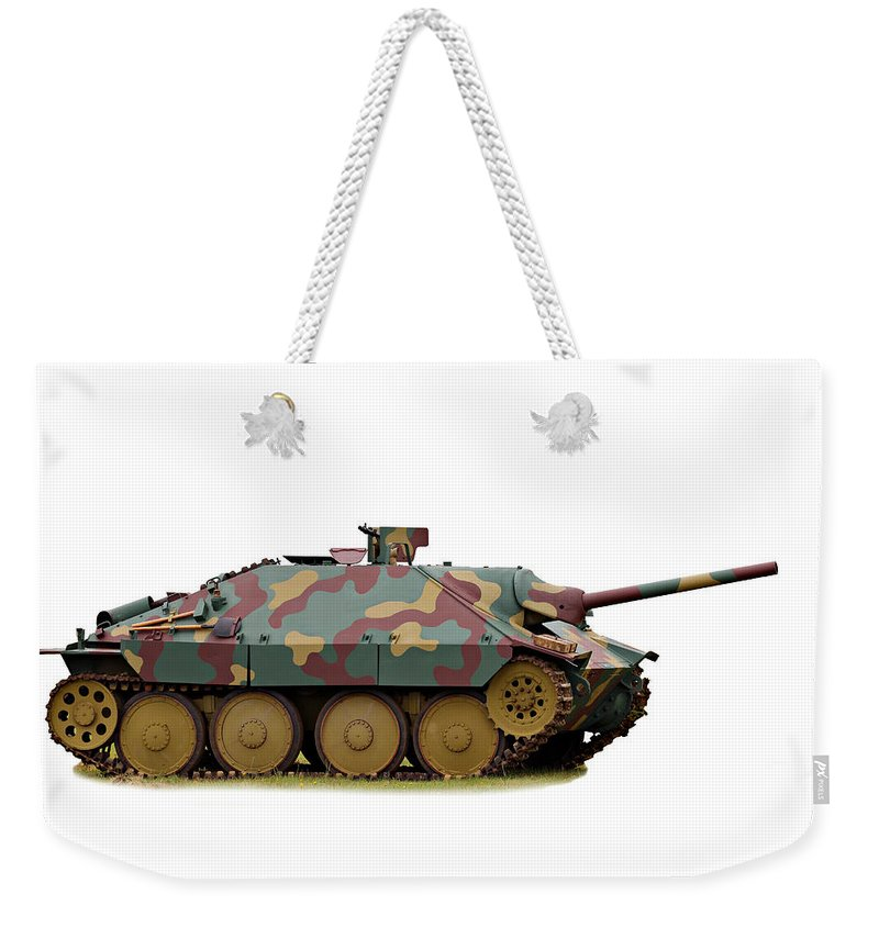 Action Weekender Tote Bag featuring the photograph Hetzer Tank Destroyer by Paul Fell