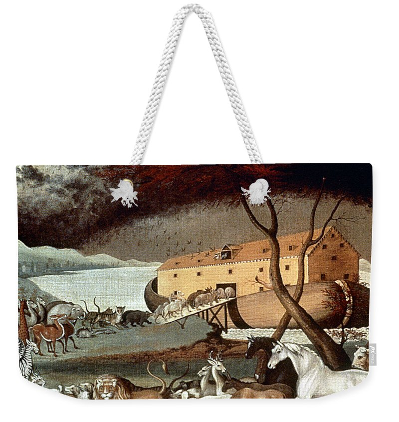 19th Century Weekender Tote Bag featuring the photograph Hicks: Noahs Ark, 1846 by Granger