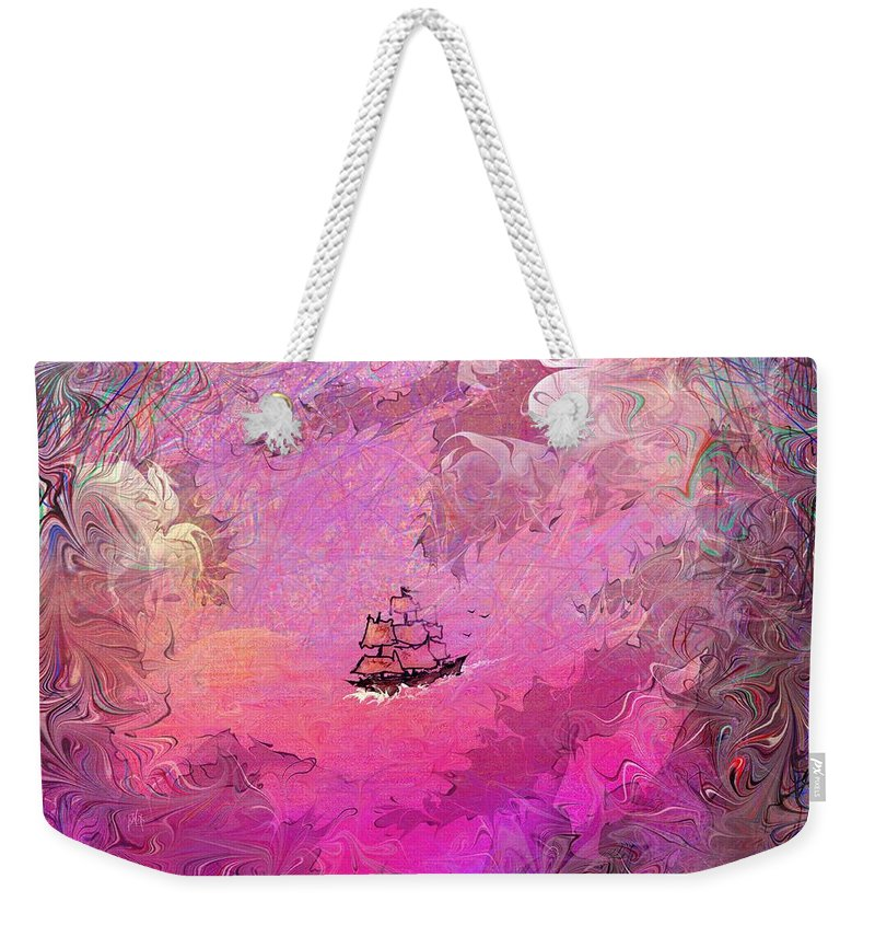 Treasure Weekender Tote Bag featuring the digital art Hidden Treasure by Rachel Christine Nowicki