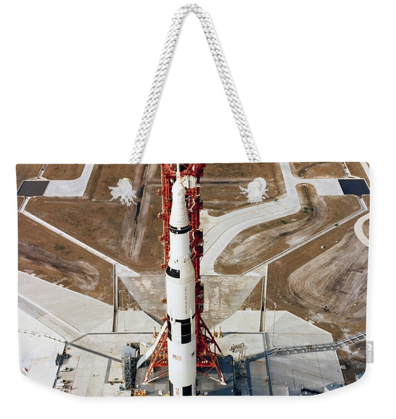 1969 Weekender Tote Bag featuring the photograph High-angle View Of The Apollo 10 Space by Stocktrek Images