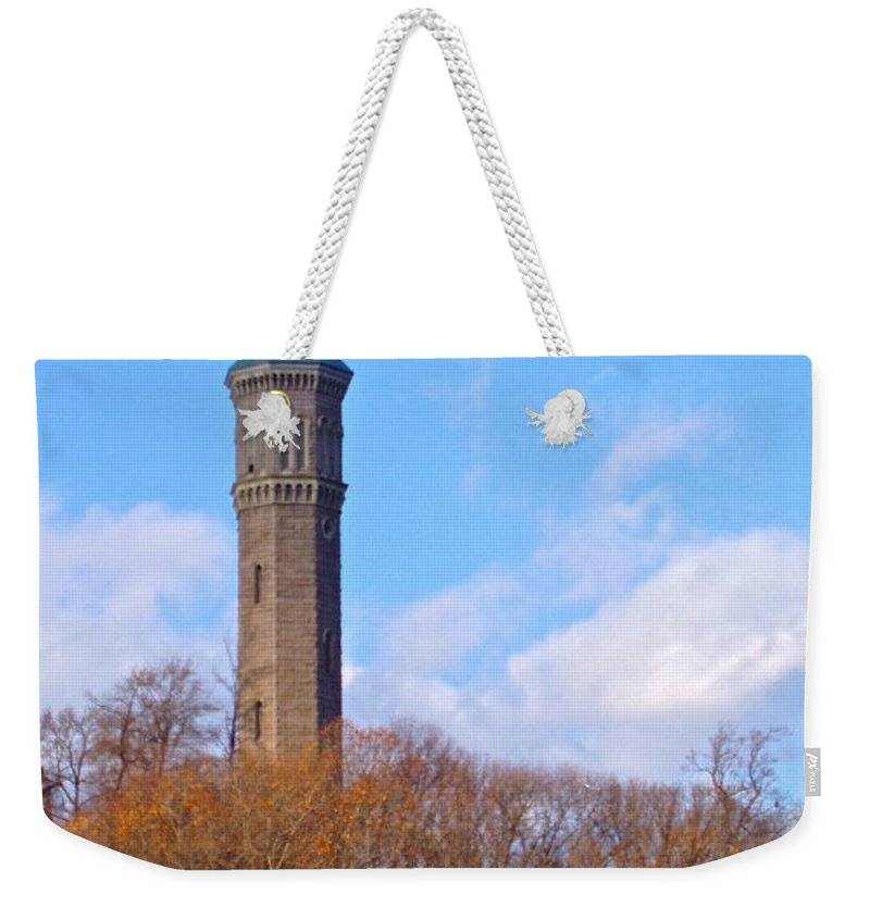 Nyc Weekender Tote Bag featuring the photograph High Bridge Water Tower by Carol Bradley