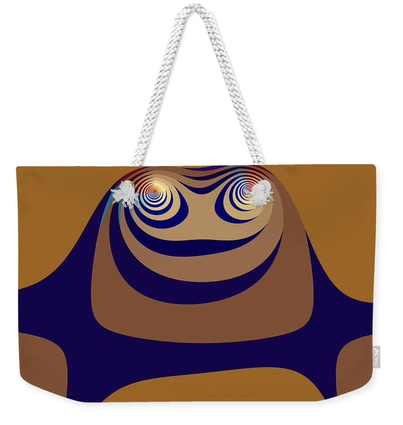 Fractal Weekender Tote Bag featuring the digital art High State by Mark Greenberg