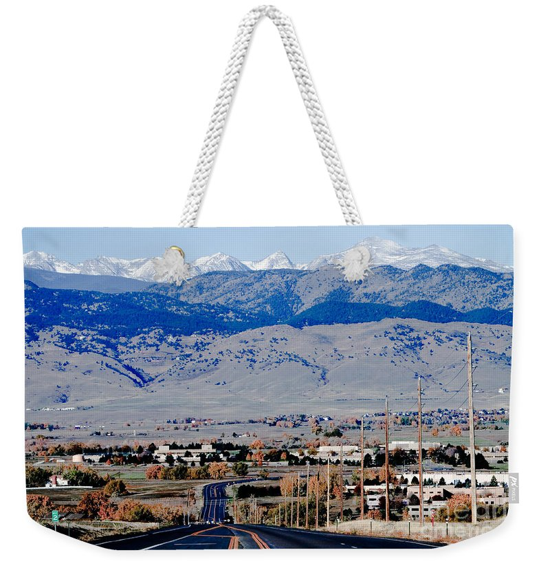 Highway Weekender Tote Bag featuring the photograph Highway 52 End Of The Line by James BO Insogna