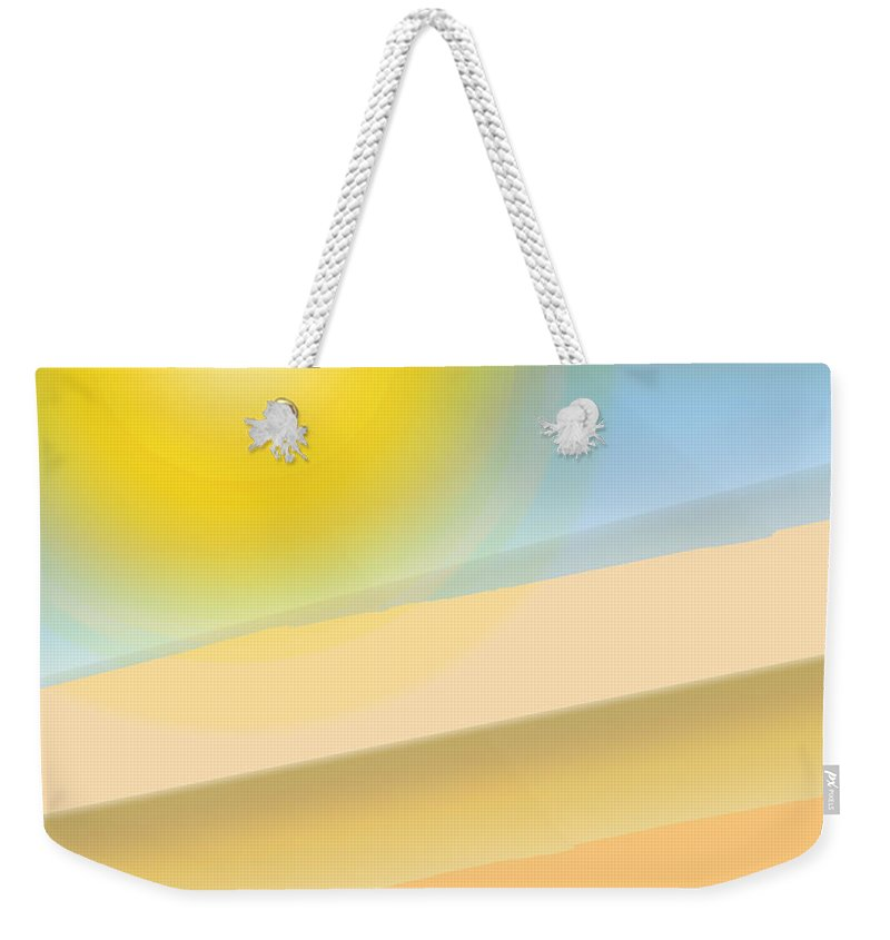 Abstract Weekender Tote Bag featuring the digital art Hill Country by Ian MacDonald