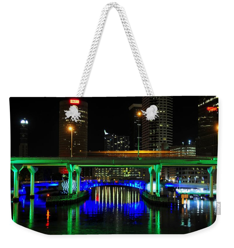 Fine Art Photography Weekender Tote Bag featuring the photograph Hillsborough Crossing by David Lee Thompson