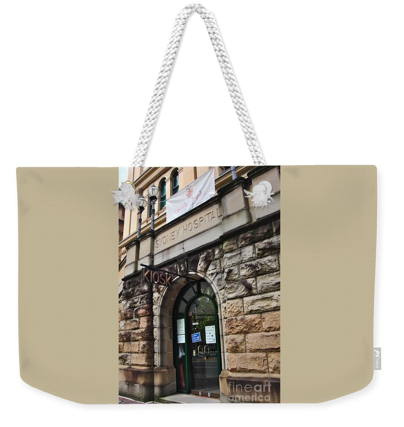 Photography Weekender Tote Bag featuring the photograph Historic Sydney Hospital - Sandstone Facade by Kaye Menner
